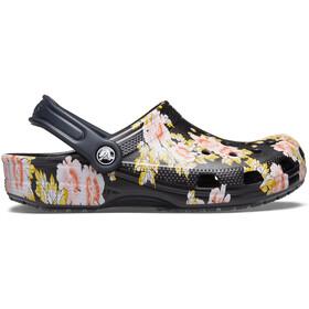 Crocs Classic Printed Floral Crocs, black/floral